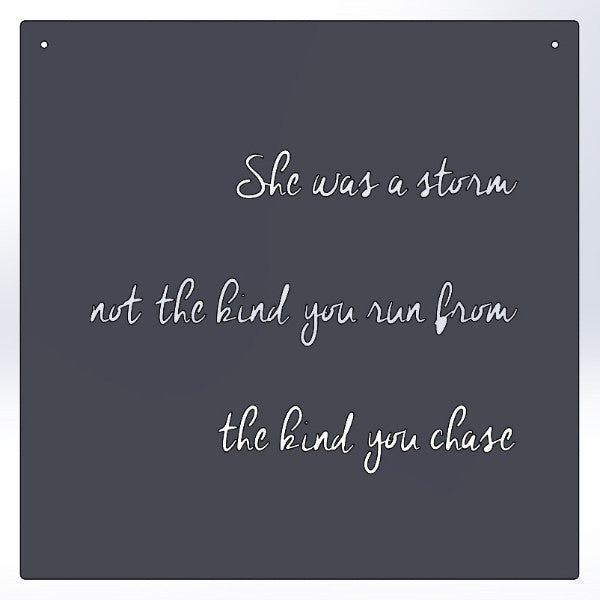 She Was A Storm Not The Kind You Run From The Kind You Chase