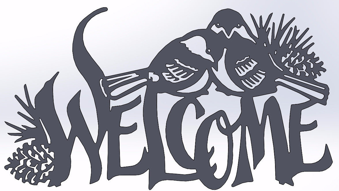 2 Birds Welcome Sign