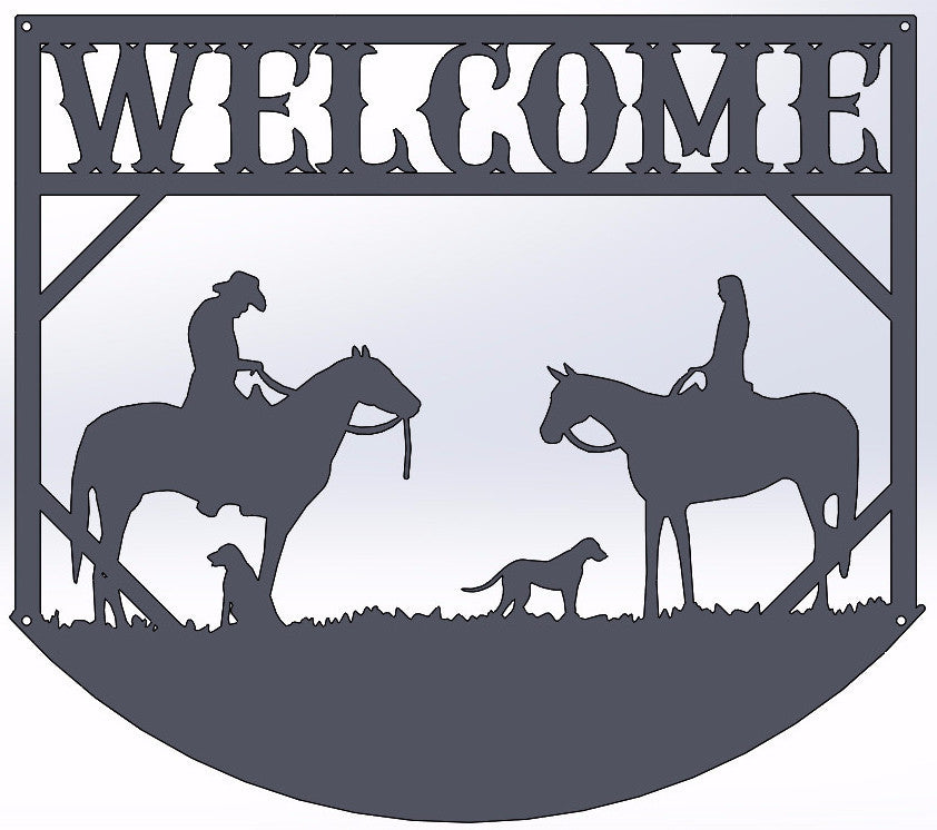 Horseback Welcome Sign
