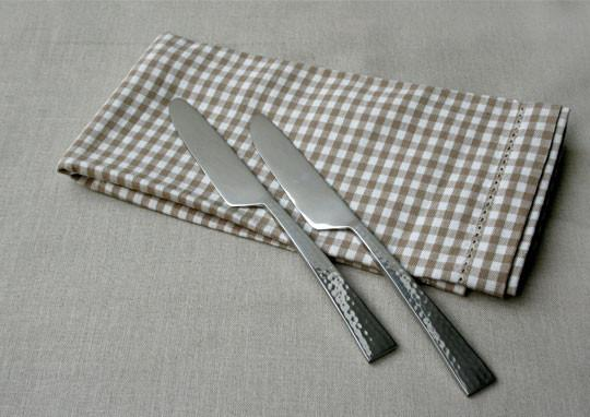 Beaten Steel Dinner Knife (Set of 2)