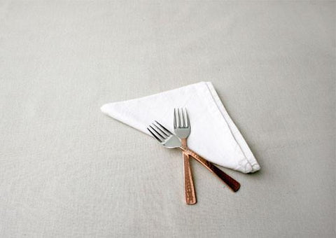 Beaten Copper Plated 2 Piece Dessert Fork Set