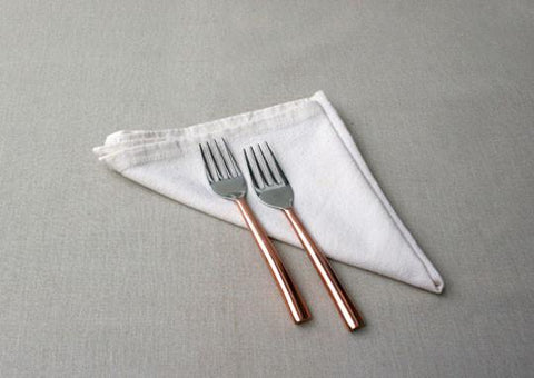 Oval Copper Plated Dessert Fork (Set of 2)