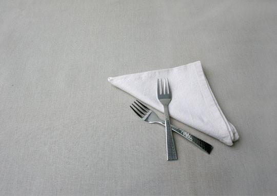 Beaten Steel 2 Piece Dinner Fork Set