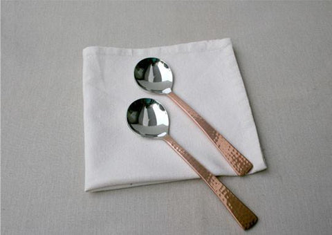 Beaten Copper Plated Soup Spoon (Set of 2)