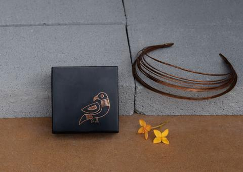 Bidri Miniature Box - Tota