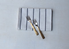 Beaten Brass Plated 2-Piece Dessert Fork Set