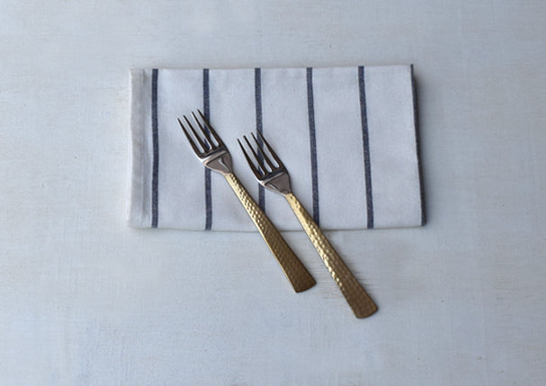 Beaten Brass Plated 2-Piece Dinner Fork Set