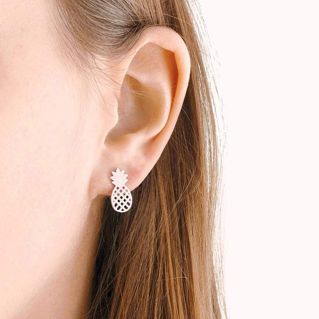 Boucles Pineapple - Argent
