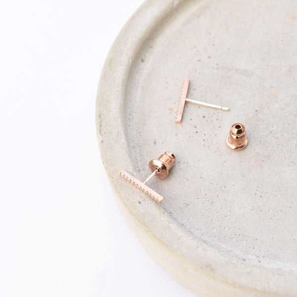 Zia Barre Rose Gold Earrings