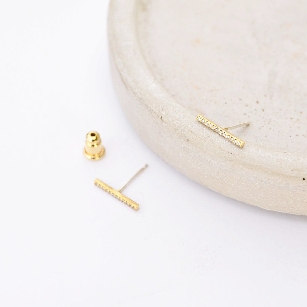 Zia Barre Gold Earrings