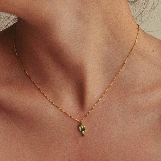Collier Cactus - Or