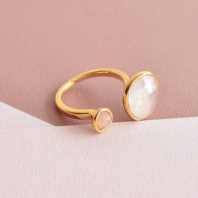 Bague Lima - Quartz Rose