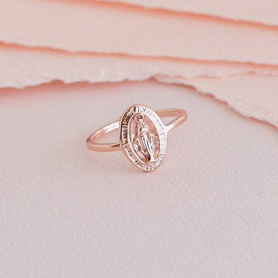 Bague Madone - Or Rose