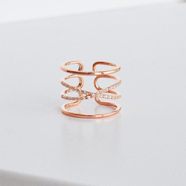 Bague Sia - Or Rose