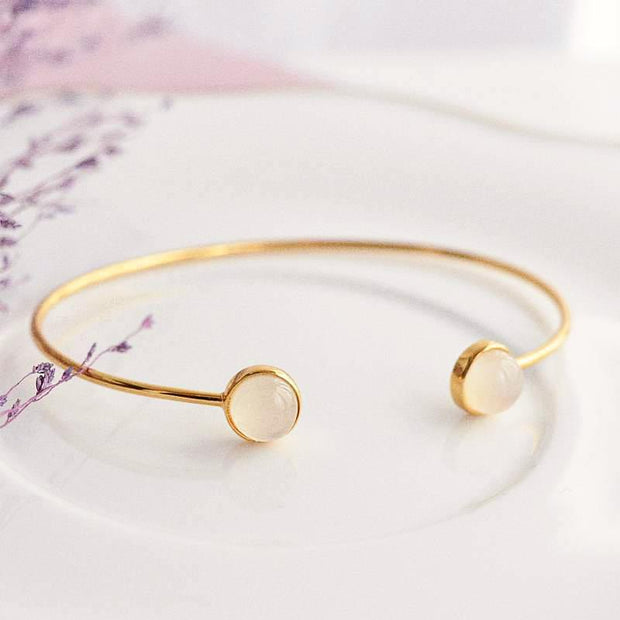Bangle Lea Ronde - Plaqué Or 18K - Bijoux Majolie