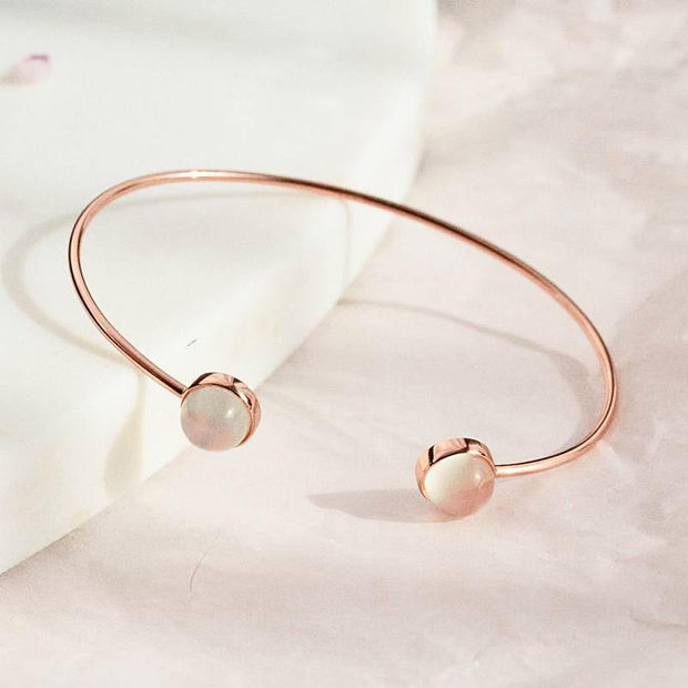 Bangle Lea Ronde - Plaqué Or Rose 18K - Bijoux Majolie