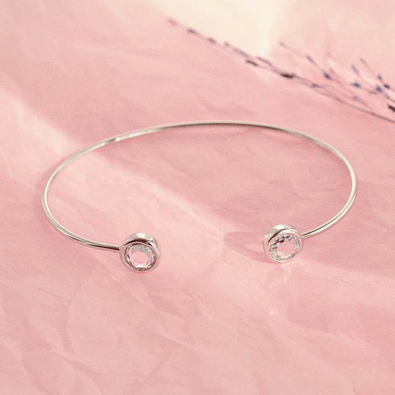Bangle Liya - Plaqué Rhodium