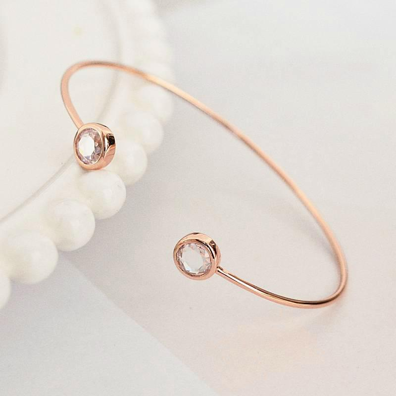 Bangle Liya - Plaqué Or Rose 18K