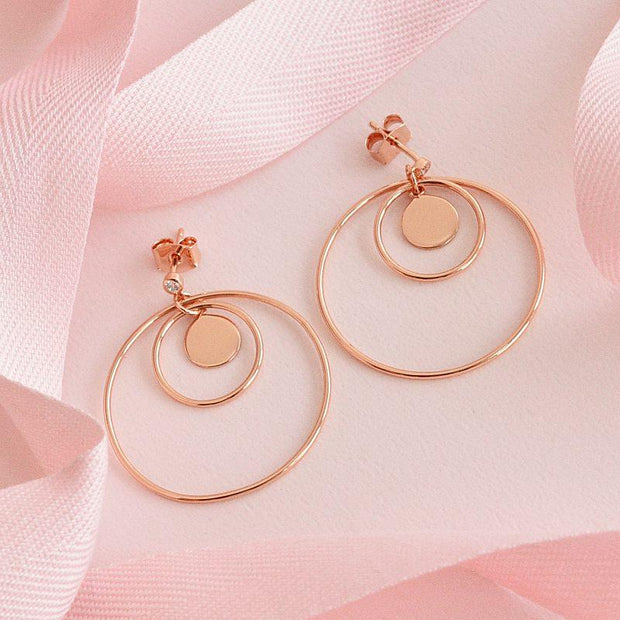 Boucles Amelya - Or Rose