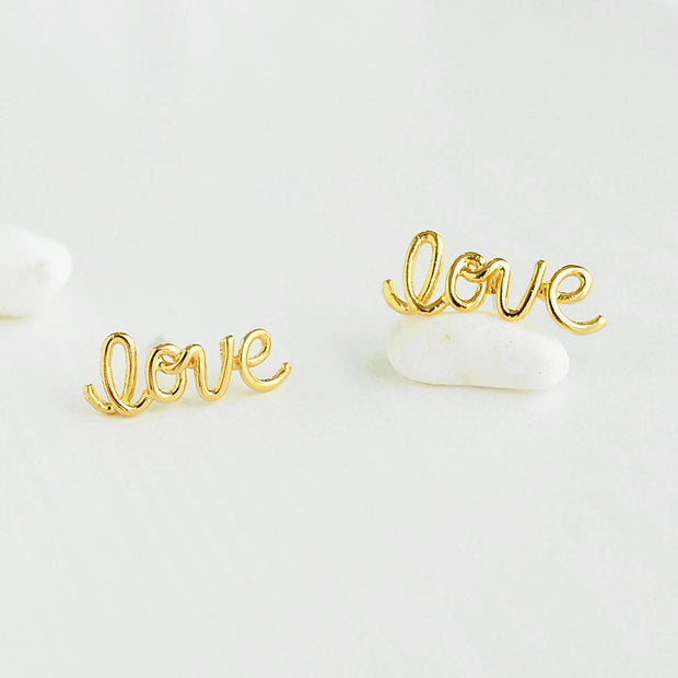 Boucles Love - Or - Bijoux Majolie