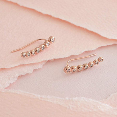 Boucles Hilda - Or Rose