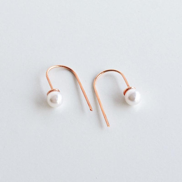 Boucles Perla - Or Rose