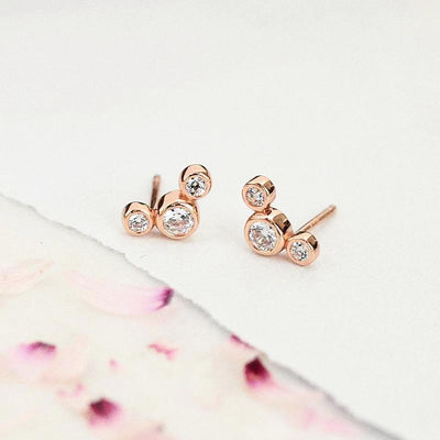 Boucles Reema - Plaqué Or Rose 18K