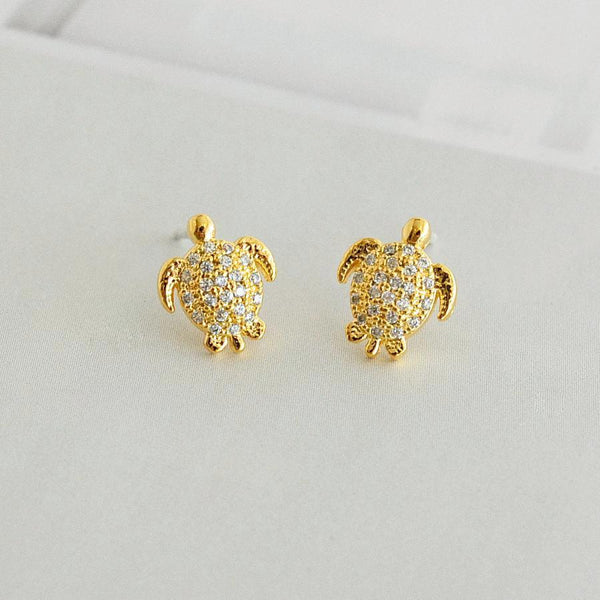 Boucles Tortues Diamantés - Or