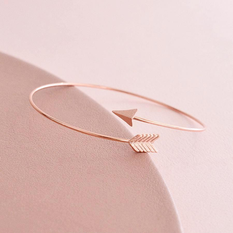 Bracelet Jonc Fleche - Or Rose