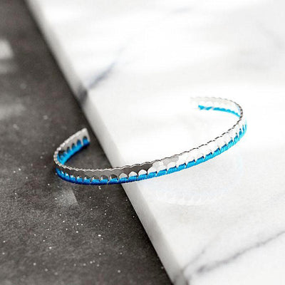 Bangle Gigi - Plaqué Rhodium / Bleu