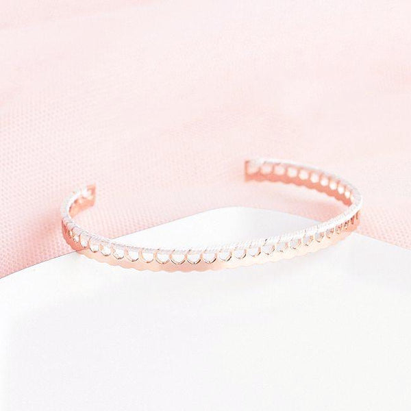 Bangle Gigi - Plaqué Or Rose 18K / Blanc