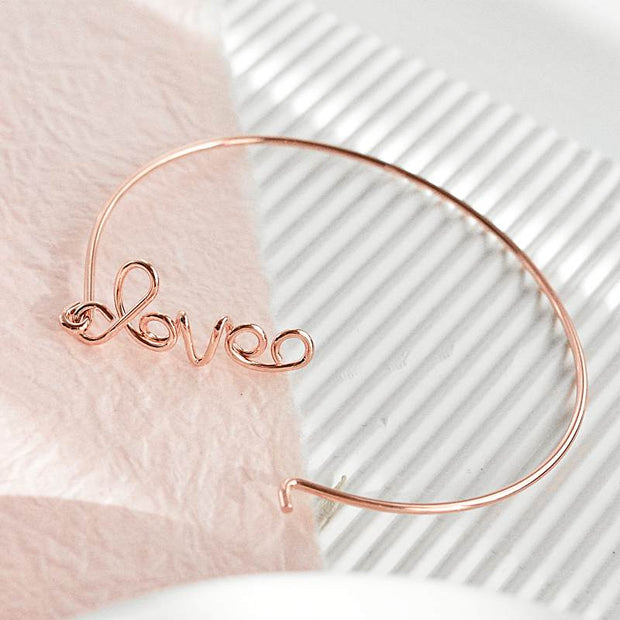 Bracelet Love Wire - Or Rose
