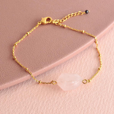 Bracelet Mona - Quartz Rose
