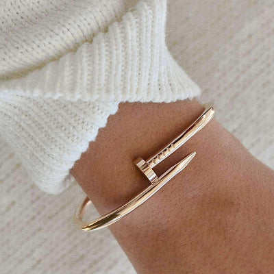 Bangle Clou - Or Rose - Bijoux Majolie