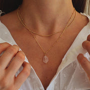 Collier Mona - Quartz rose