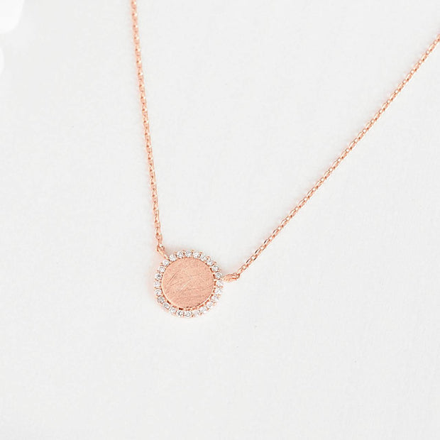 Collier Cercle Diamanté - Or Rose