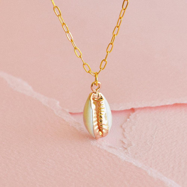 Collier Cowrie - Or