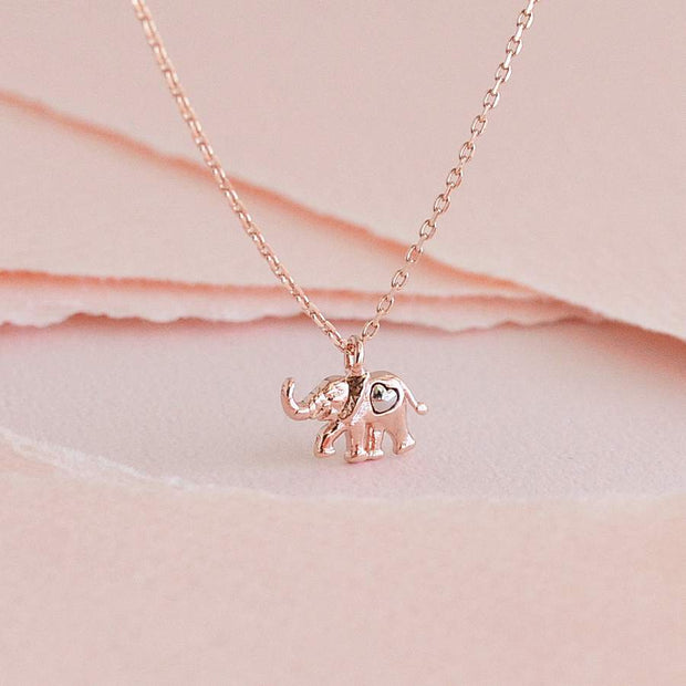 Collier Enya - Or Rose