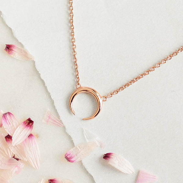 Collier Moon - Plaqué Or Rose 18K
