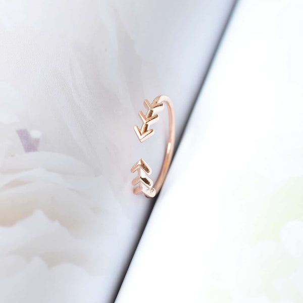 Bague Fleche Boho - Or Rose