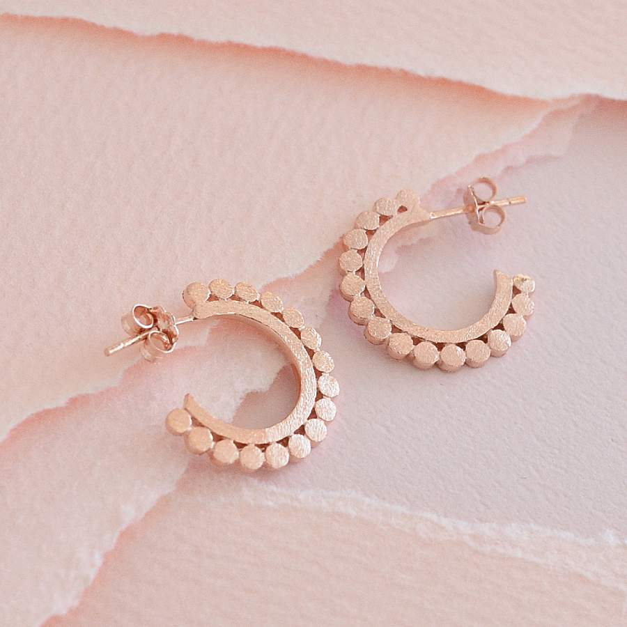 Boucles Homa - Or Rose