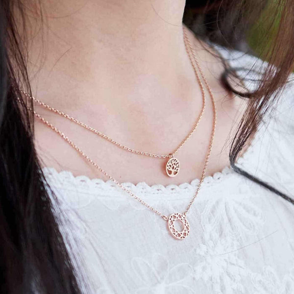Collier Arbre de Vie - Or Rose
