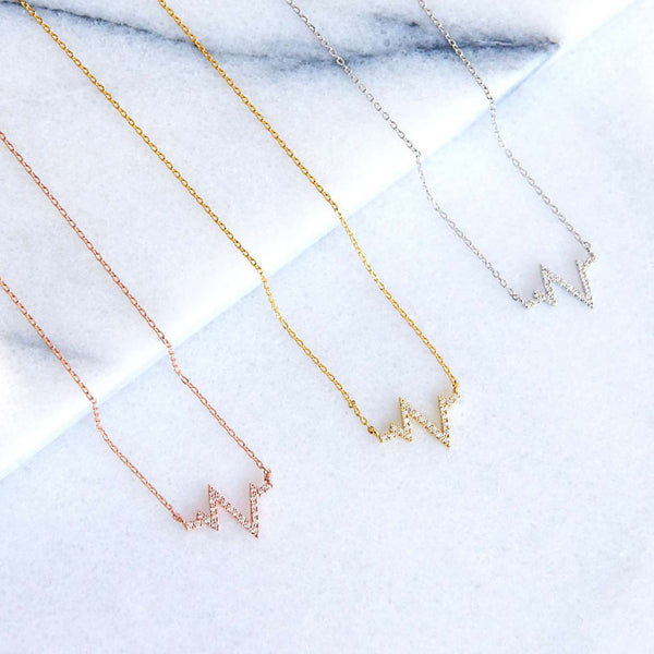 Battements de Coeur Diamanté Rose Gold Necklace