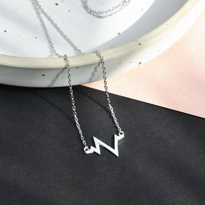 Collier Battements de Coeur - Argent