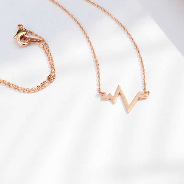 Collier Battements de Coeur - Or Rose