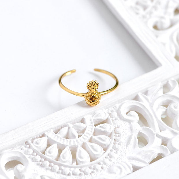 Bague Ananas - Plaqué Or 18K