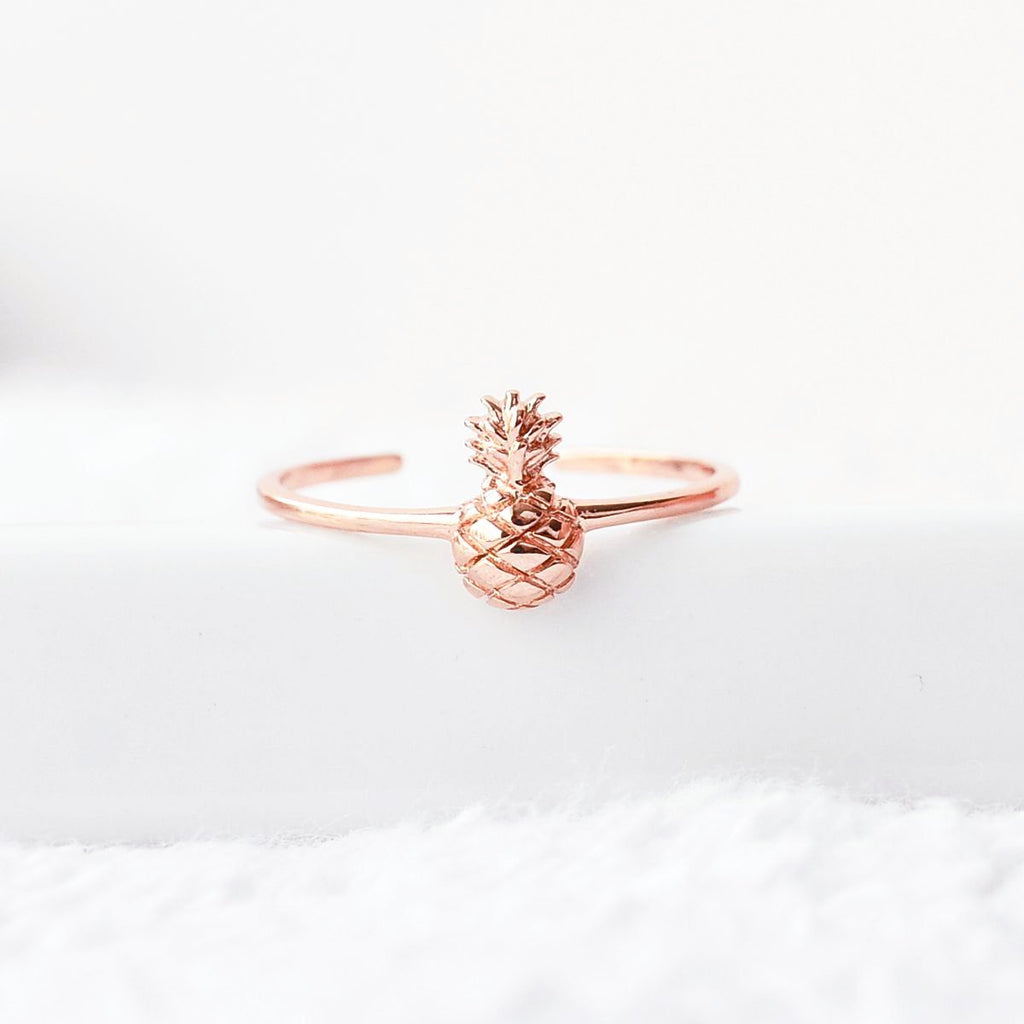 Bague Ananas - Plaqué Or Rose 18K