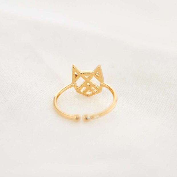 Bague Chat Origami - Or - Bijoux Majolie