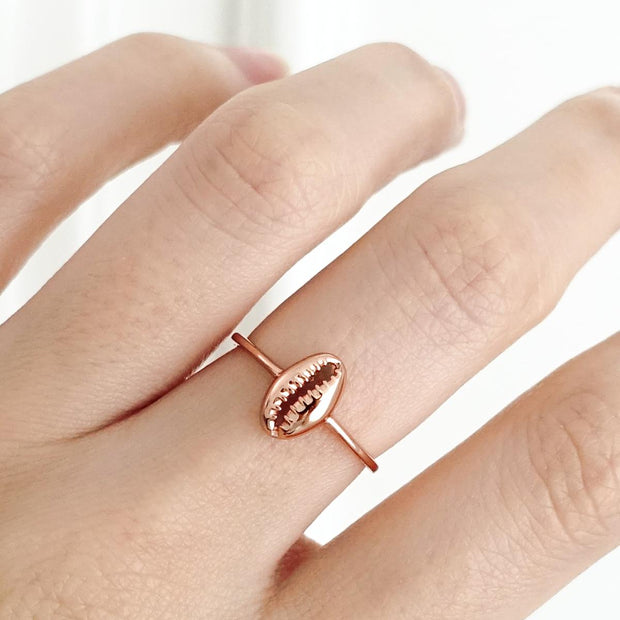 Bague Coquillage - Plaqué Or Rose 18K