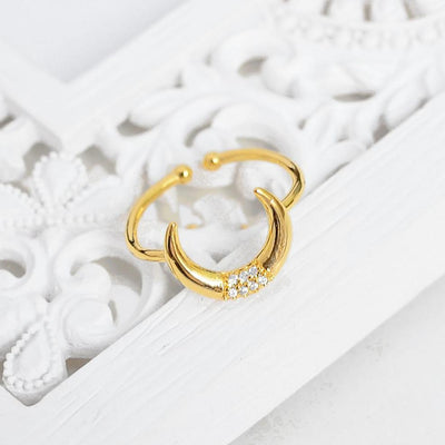 Bague Lune Boho - Or